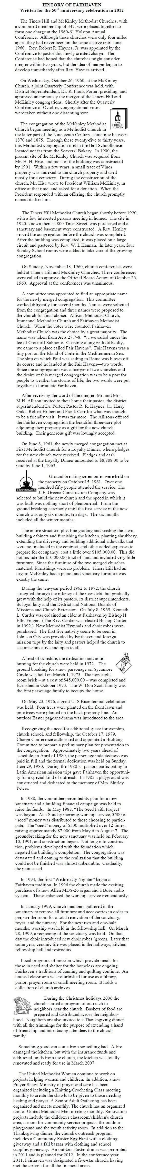 History of Fairhaven